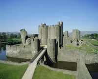 Caerphilly Castle, Glamorgan, Wales, United Kingdom, Europe