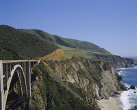 The coast and Bixby Bridge on the Pacific Highway, Route 1, California, United States of America