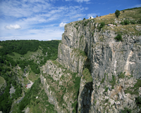 Cheddar Gorge tourist attraction, limestone rock formations, Somerset, England, United Kingdom, Europe