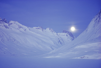 Moonrise at Tinitiqacaqacaq, East Greenland, Greenland