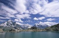 Lac Blanc (White Lake) and mountains, Chamonix, Haute Savoie, Rhone-Alpes, French Alps, France, Europe