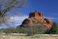 View to Bell Rock, considered a vortex by New Age metaphysicists, in early morning light, Sedona, Arizona, United States of Amer