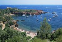 Picturesque bay near Antheor, Corniche de l'Esterel, Var, Cote d'Azur, French Riviera, Provence, France, Mediterranean, Europe