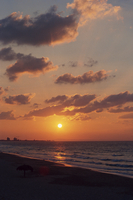 Sunset over the sea at Varadero on the island of Cuba, West Indies, Caribbean, Central America