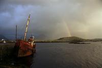Ballynakill Harbour, Connemara, County Galway, Connacht, Eire (Republic of Ireland), Europe