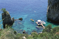 Paleokastritsa, Corfu, Ionian Islands, Greece, Europe