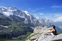 View from Kleine Scheidegg to Jungfrau, Bernese Oberland, Switzerland, Europe