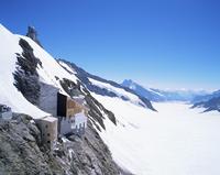 Jungfraujoch, 3454 m, and Aletsch Glacier, Bernese Oberland, Swiss Alps, Switzerland, Europe