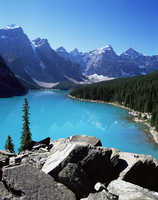 Moraine Lake, Valley of the Ten Peaks, Banff National Park, UNESCO World Heritage Site, Rocky Mountains, Alberta, Canada, North