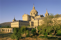Eastern facade of the monastery palace of El Escorial, UNESCO World Heritage Site, Madrid, Spain, Europe
