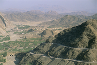View into Afghanistan from the Khyber Pass, North West Frontier Province, Pakistan, Asia