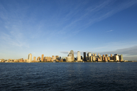 Manhattan skyline across the Hudson River, New York City, New York, United States of America, North America