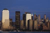 Lower Manhattan skyline across the Hudson River, New York City, New York, United States of America, North America