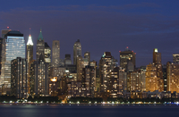 Lower Manhattan skyline across the Hudson River, New York City, New York, United States of America, North America