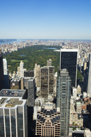 High view of Central Park and Upper Manhattan, New York City, New York, United States of America, North America