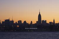 Empire State Building and Midtown Manhattan skyline at sunrise, New York City, New York, United States of America, North America