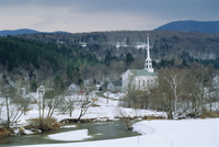 Winter in Stowe, Vermont USA