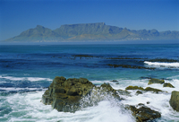 Table Mountain viewed from Robben Island, Cape Town, South Africa