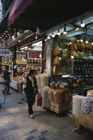 Dried seafood shops, Des Voeux Road West, Western District, Hong Kong Island, Hong Kong, China, Asia