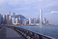 Central skyline of Hong Kong Island, Victoria Harbour, Hong Kong, China, Asia
