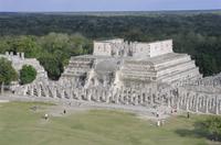 Temple of the Warriors, Chichen Itza, Mexico, Central America 20025349369| 写真素材・ストックフォト・画像・イラスト素材|アマナイメージズ