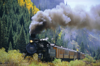 Steam train, Durango and Silverton Railroad, Silverton, Colorado, United States of America
