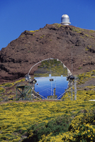 Astrophysic observatory, the most important in Europe, situated near Roque de los Muchachos, La Palma, Canary Islands, Spain, Eu 20025349958| 写真素材・ストックフォト・画像・イラスト素材|アマナイメージズ