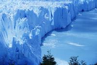 Aerial view of icebergs at Moreno Glacier (Perito Moreno), Parque Nacional Los Glaciares, UNESCO World Heritage Site, Patagonia,