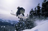 Snowboarder, Mount Rainier, Washington State, United States of America (U.S.A.), North America 20025350750| 写真素材・ストックフォト・画像・イラスト素材|アマナイメージズ