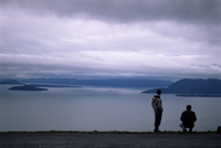 View from Chuckanut Drive on the mainland, to San Juan islands, Washington State, United States of America (U.S.A.), North Ameri 20025350782| 写真素材・ストックフォト・画像・イラスト素材|アマナイメージズ