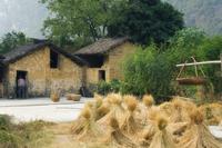 Village scene, Lanshi, Guangxi Province, China, Asia