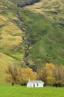 Hut, Matukituki Valley, Wanaka, Central Otago, South Island, New Zealand, Pacific