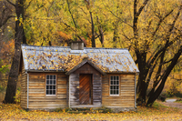 Miner's hut, Arrowtown, Central Otago, South Island, New Zealand, Pacific