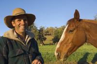 Portrait of Jackaroo, Leconfield, Dungowan, New South Wales, Australia, Pacific