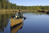 Canoeing on the Louse River, Boundary Waters Canoe Area Wilderness, Superior National Forest, Minnesota, United States of Americ 20025351250| 写真素材・ストックフォト・画像・イラスト素材|アマナイメージズ