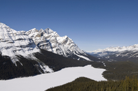 Peyto Lake, Bow Summit, Banff National Park, UNESCO World Heritage Site, Rocky Mountains, Alberta, Canada, North America