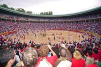 San Fermin festival. Plaza de Toros, Pamplona, Navarra, Spain, Europe 20025351800| 写真素材・ストックフォト・画像・イラスト素材|アマナイメージズ