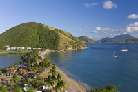 Elevated view over Frigate Bay Beach, Frigate Bay, St. Kitts, Leeward Islands, West Indies, Caribbean, Central America