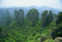 Spectacular limestone outcrops and forested valleys of Zhangjiajie Forest Park in Wulingyuan Scenic Area in Hunan Province, UNES
