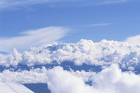 Mount Kilimanjaro, UNESCO World Heritage Site, seen from aircraft, Kenya, East Africa, Africa