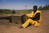 The Sunken Rock Hewn church of Bet Giyorgis (St George), Lalibela, Northern Ethiopia, Ethiopia, Africa 20025353618| 写真素材・ストックフォト・画像・イラスト素材|アマナイメージズ