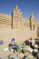 Djenne Mosque, the largest mud structure in the world, Djenne, UNESCO World Heritage Site, Niger Inland Delta, Mopti region, Mal 20025353624| 写真素材・ストックフォト・画像・イラスト素材|アマナイメージズ