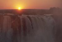Sunrise over Main Falls, Victoria Falls, UNESCO World Heritage Site, Zimbabwe, Africa