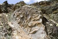 Silurian trilobite burrows, Penha Garcia geological park, Naturtejo Geopark (one of the UNESCO Geoparks), Beira Baixa, Portugal,