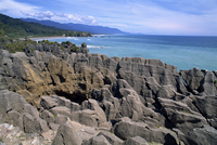 Pancake Rocks, Punakaiki, Paparoa National Park, Westland, South Island, New Zealand, Pacific 20025354701| 写真素材・ストックフォト・画像・イラスト素材|アマナイメージズ