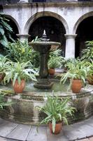 One of many lovely garden courtyards in Old Havana, Havana, Cuba, West Indies, Central America