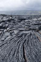 Cooled lava from recent eruption, Kilauea Volcano, Hawaii Volcanoes National Park, UNESCO World Heritage Site, Island of Hawaii
