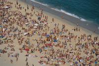 Sunday crowd,Ipanema Beach,Rio de Janeiro,Brazil,South America 20025358194| 写真素材・ストックフォト・画像・イラスト素材|アマナイメージズ