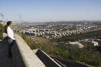Baiwangshan Forest Park overlooking the city, Beijing, China, Asia