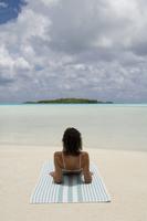 Blue Lagoon, Rangiroa, Tuamotu Archipelago, French Polynesia, Pacific Islands, Pacific 20025359056| 写真素材・ストックフォト・画像・イラスト素材|アマナイメージズ